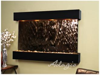"Sunrise Springs 35"" High Bronze Mirror Indoor Wall Fountain (15P65)"