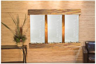 "Olympus Falls 54""H Rustic Silver Mirror Indoor Wall Fountain (15W31)"