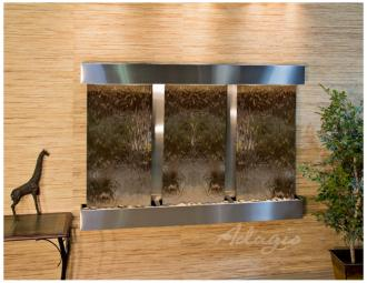 "Olympus Falls 54""H Bronze Mirror Indoor Steel Wall Fountain (15W52)"