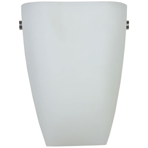 "Elementary 9""H Brushed Steel and Opal Glass LED Wall Sconce"
