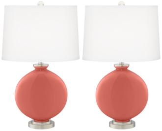 Coral Reef Carrie Table Lamp Set of 2 (16K34-X8892-21F21) 16K34-X8892-21F21