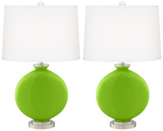 Neon Green Carrie Table Lamp Set of 2 (16K34-X9745-21F21) 16K34-X9745-21F21