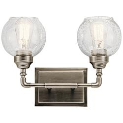 "Kichler Niles 10 3/4""H Antique Pewter 2-Light Wall Sconce"
