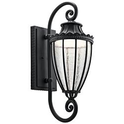 "Kichler Wakefield 29 1/2"" High Black LED Outdoor Wall Light"