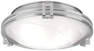 "Possini Euro Deco 12 3/4"" Wide Brushed Nickel Ceiling Light (18609) 18609"
