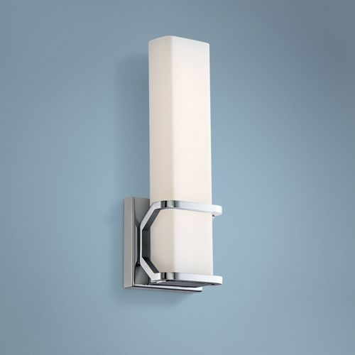 "Platinum Collection Axis 13"" High Chrome LED Wall Sconce"