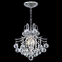 "James Moder Cascade 12""W Silver Dual-Mount Mini Chandelier"