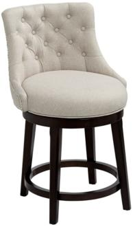 "Hillsdale Halbrooke 25"" Cream Fabric Swivel Counter Stool (19M60)"
