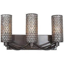 "Varaluz Casablanca 17"" Wide Hand-Applied Steel Bath Light"