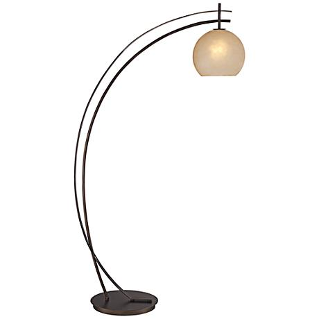 possini venus rubbed bronze arc floor lamp 87829