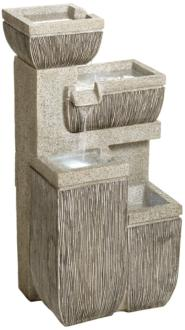 "Alamere Square 31 3/4""H Tiered Outdoor LED Floor Fountain (1G458)"