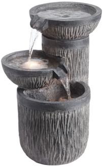 "Griffin 21 1/2"" High Indoor/Outdoor LED Three-Tier Fountain (1G460)"