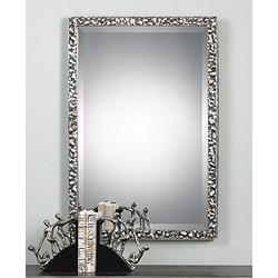 "Alshon Metallic Silver 26 1/2"" x 38 1/2"" Wall Mirror"