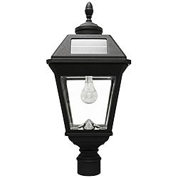 "Imperial Acorn Black 22 1/2""H Post-Mount LED Solar Light"