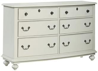 Inspirations Morning Mist Gray 6-Drawer Dresser (1M193)