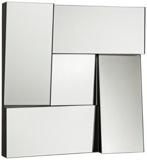 "New Angle Black 17"" Square Dimensional Modern Wall Mirror (1P953) 1P953"