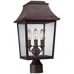 "Feiss Este 17 3/4"" High Patina Copper Outdoor Post Light"