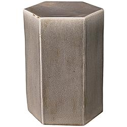"Jamie Young Porto 15"" Wide Dark Gray Ceramic Side Table"