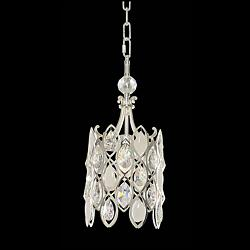 "Prive 8"" Wide Polished Chrome Mini Pendant"