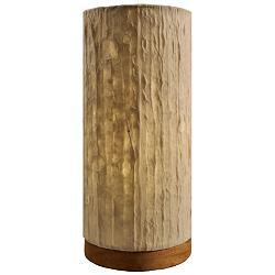 "Eangee 13""H Paper Cylinder Lines Hand-Made Small Table Lamp"