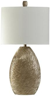 Everest Canella Swirl Gold Table Lamp (1X358) 1X358