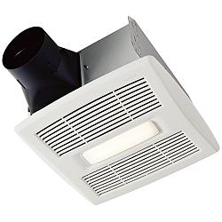 NuTone InVent LED White 80 CFM 1.5 Sones Lighted Bath Fan