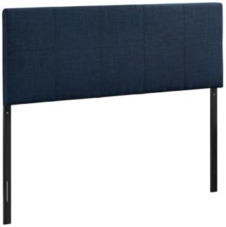 Oliver Navy 10-Square Stitched Twin Fabric Headboard (1Y422)