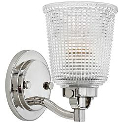 "Hinkley Bennett 9"" High Polished Nickel Wall Sconce"