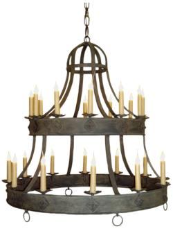 "Laura Lee Sorrento 44"" Wide Salmon Rust 24-Light Chandelier (21F17)"