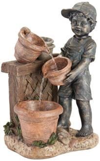 Boy with Garden Pots...