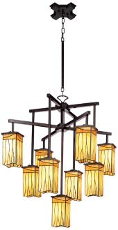 "Sedona Collection 32 1/2"" Wide 9-Light Art Glass Chandelier (22322)"
