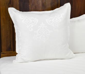 Francis Jacquard White Fabric Euro Pillow Sham (22P38)
