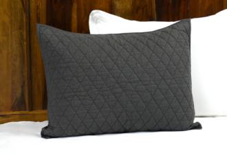 Lana Charcoal Diamond Cotton Standard Pillow Sham (22R56)