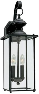 "Jamestowne 20 1/4"" High Black 2-Light LED Outdoor Wall Light (22W83) 22W83"