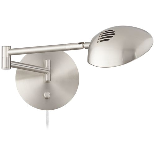 Possini Euro Eliptik Satin Nickel LED Swing Arm Wall Lamp