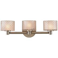 "Willow 19"" Wide Satin Nickel 3-LED Bath Light"