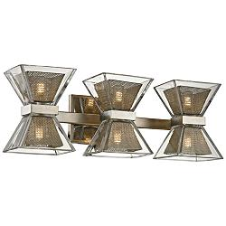 "Expression 20"" Wide Silver Leaf 6-Light LED Bath Light"