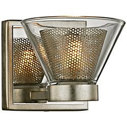 "Wink 4 1/2""H Silver Leaf and Polished Chrome LED Wall Sconce"