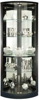 Howard Miller Jaime Black Satin 2-Door Curio Cabinet (24A80)