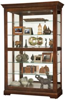 Howard Miller Kane Cherry Bordeaux 1-Door Curio Cabinet (24A81)