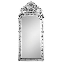 "Venetian Glass 19"" x 43"" Crown-Shape Wall Mirror"