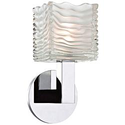 "Hudson Valley Sagamore 10""H Polished Chrome LED Wall Sconce"