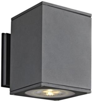 "Big Theo 7 1/4""High Anthracite LED Outdoor Wall Light (24P06) 24P06"