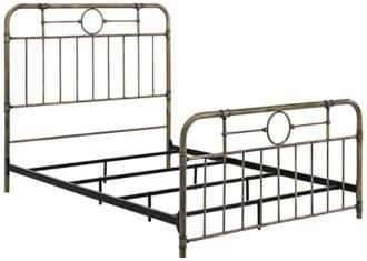 Antiqua Bronze Metal Pipe Queen Bed (24W62)