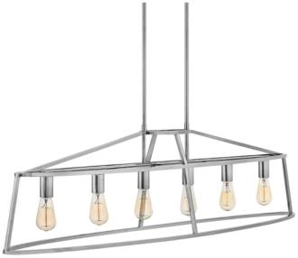 "Middleton 52"" Wide Polished Nickel 6-Light Island Pendant (24X05)"