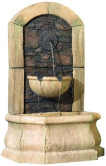 "Tuscan Village 50"" High Faux Slate Floor Fountain (25069)"