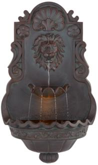 "Lion Head Bronze 31 1/2"" High Indoor Outdoor Fountain (26052)"