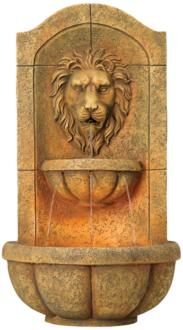 Lion Head Faux Stone...