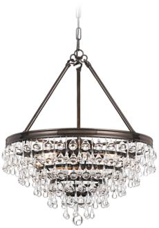 Luna Gold Crystal Globe Plug In Chandelier | Amalfi Decor