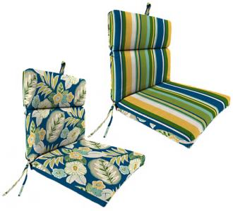 "light blue and green french 21"" outdoor chair cushion (2d215)"